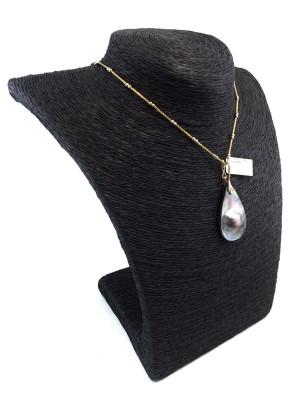 pendentif-perles mabe teinte noir 14k