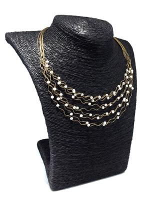 collier en perles magnifique or jaune 14k 0031